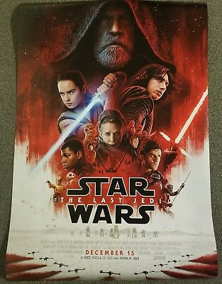 Star Wars The Last Jedi Final 27x40 Double Sided Movie Theater Poster