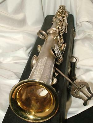 Antique Art Deco 1920's SOPRANO SAXOPHONE Bruno Royal Artist by Conn New York