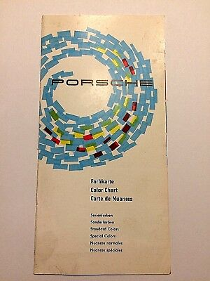 1960's Porsche Paint Color Chart