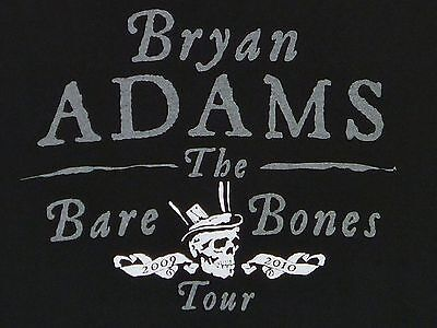 BRYAN ADAMS The Bare Bones 2009 - 2010 Tour T-shirt
