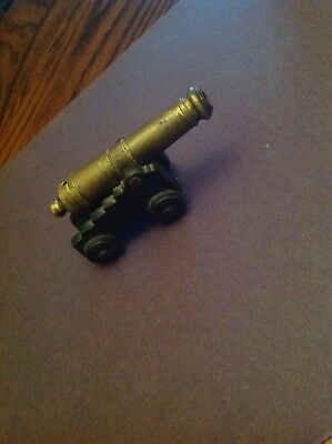 Vintage Cast Iron Toy Cannon Brass Cannon By M.F. Co. 1/0 #28 MFCO