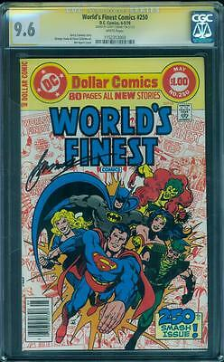 Worlds Finest 250 CGC SS 9.6 Gerry Conway Signed Batman Superman 1978 White pgs