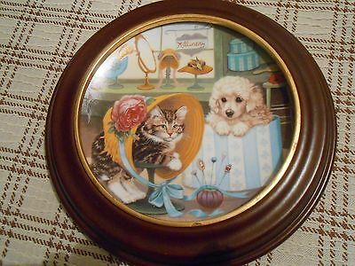 Decorative Plate Purrfect Fit from Little Shopkeepers By Gerardi in A Frame