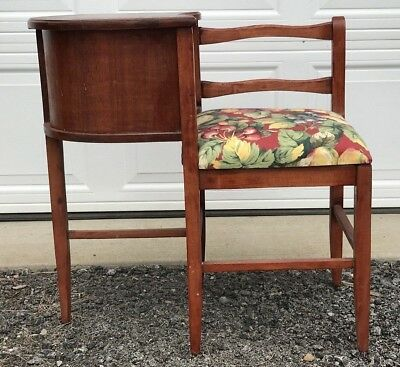 Vintage Mahogany or Cherry Wood TELEPHONE Phone GOSSIP Chair Desk BENCH