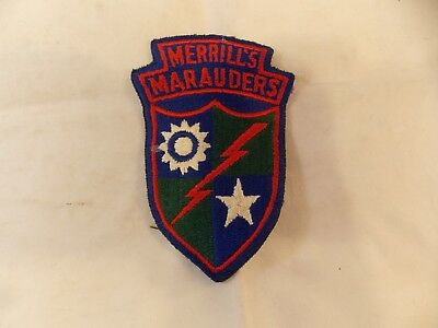 Merrill's Marauders Patch, U.S. Army WWII, Pre-Owned