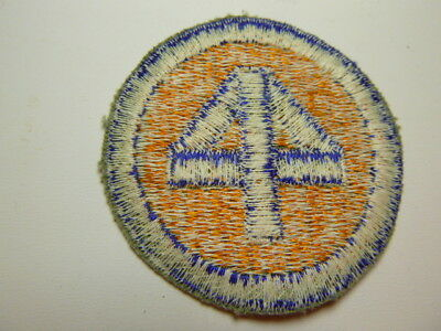 A    WW 2 U S Army 44th Division O D Backing  Cut Edge White Back Patch