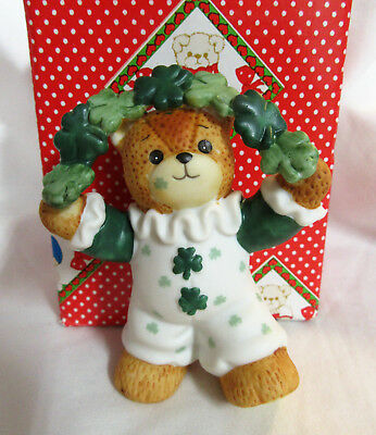 Lucy & Me ~ Clown Juggling Shamrocks ~ St. Patrick's Day Irish Figurine