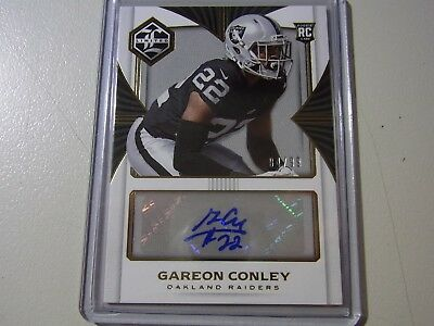 2017 Panini Limited GOLD Parallel Rookie Autograph Card Gareon Conley #4/99