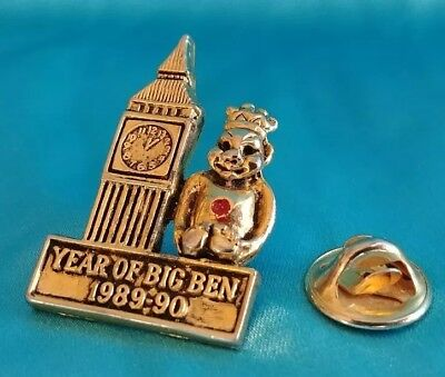 Vintage ROJ Royal Order of Jesters Court Year of Big Ben Lapel Pin 1989-90
