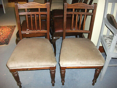 779 - Pair Edwardian Mahogany Dining Chairs