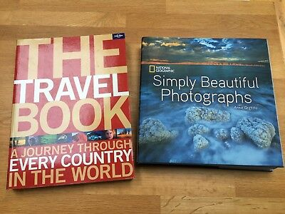 Bundle Reference Travel Photography Books: Lonely Planet National Geographic