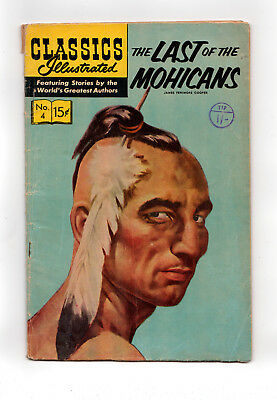 CLASSICS ILLUSTRATED #4 (HRN 167)  LAST OF THE MOHICANS (John Severin art)