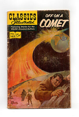 Classics Illustrated #149  (Hrn 167) Off On A Comet
