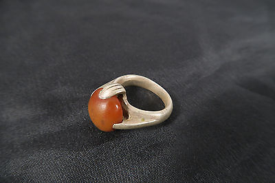 Alter Ring mit Achat der Fulani B used Old ring Agate bague Niger Mali Afrozip