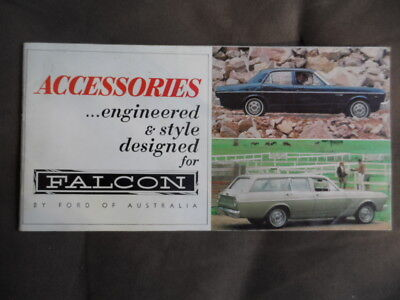 Ford Xr Falcon Accessories  Brochure-Mint Except 2 Pages!!
