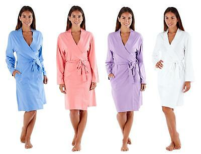 Ladies Soft Jersey Kimono Style Robe Summer Dressing Gown