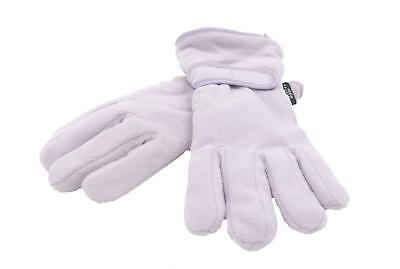 Girls Fleece Thinsulate Gloves - Lilac 4-8 Years Thermal Warm Winter Outdoors