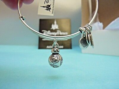 Alex And Ani Star Wars Bb8 3D Silver Charm Bangle Authentic Disney Parks NEW