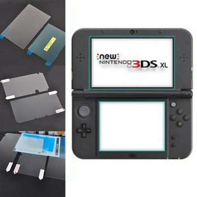 Top Bottom Tempered Glass Screen Protector Film Guard For Nintendo 3DS LL/XL