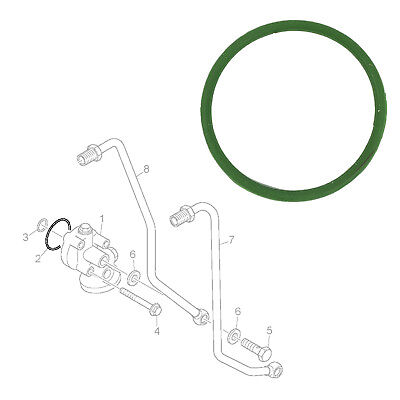 Oil Cooler Oval Gasket Seal Rubber Fits Scania, 1352886
