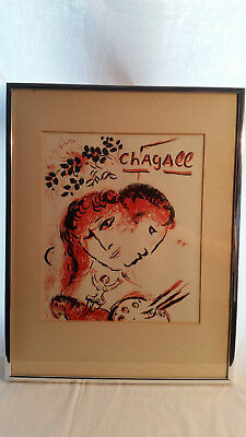 Marc Chagall, Painter at the Circus, 1969, Orig. Farblithographie, WVZ M577