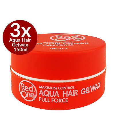 3 x RedOne Aqua Hair Gelwax Full Force 150 ml Cire cheveux Gel
