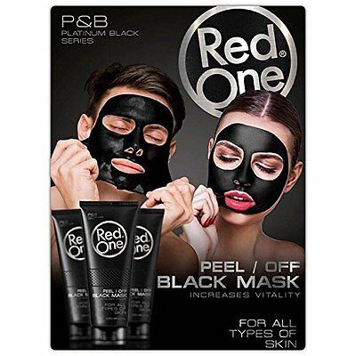 3 X Masque Anti Acné points noirs Black Mask Red One Charbon Soin Peau Visage