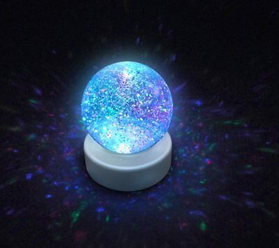 Glitter Ball Snow Globe With LED Color Changing Mood Light GIFT NEW