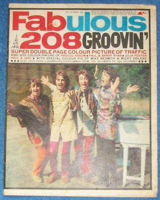 VERY RARE FABULOUS 208 MAGAZINE 1967 read all details please.