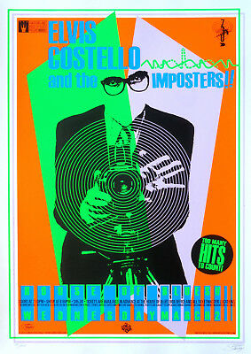 Reproduction Elvis Costello Poster, The Imposters
