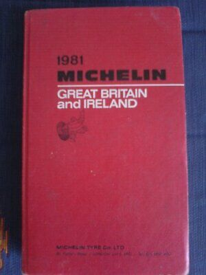 Michelin Red Guide: Great Britain and Ireland, 1981 Hardback Book The Fast Free