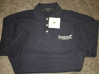 Showboat Casino Atlantic City Men's Polo Shirt Embroidered NWT XLarge Blue