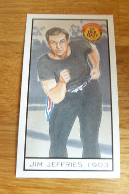 Symonds Cider Scrumpy Jack Card Sporting Greats Jim Jeffries 1903 Boxing 1994