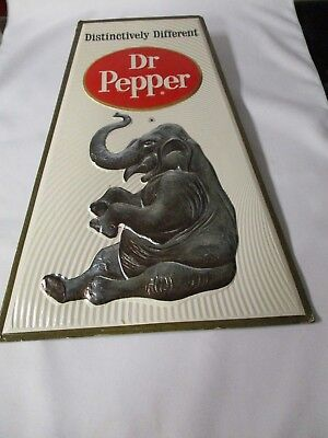 Dr Pepper Promotional Sign For 1968 With Circus Theme On Foil Board