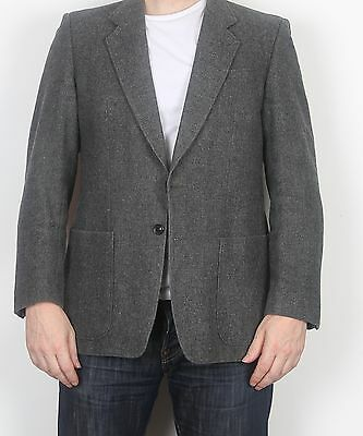 "Harris Tweed 40"" Jacket Blazer Grey Medium (FDJ) Dunn & Co"