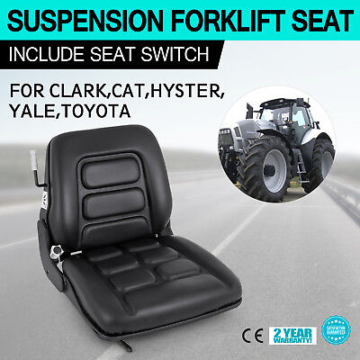 Universal Forklift Suspension Seat Fit Clark Hyster Toyota Fast Tested Cover