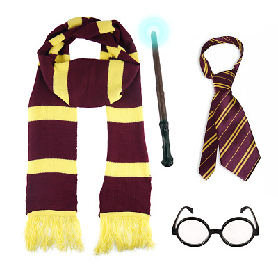 Harry Potter Book Week Fancy Dress Costume outfit Scarf/Tie/Wand sound/Glasses