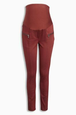 Next Maternity Skinny Rust Zip Jeans Size 12R BNWT Next day post!!! rrp 34.00