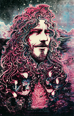Robert Plant - Show Poster - Cary NC 2015 - Orange Variant #/40 - Led Zeppelin