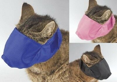 Nylon Cat Muzzle, USA Seller, Fabric Adjustable Guardian Gear No bite