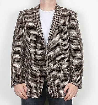 "Harris Tweed 42"" Jacket Blazer Beige Brown (FDF) Medium Large"