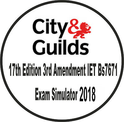 City and Guilds 17TH Edition 2018 - Exam Simulator 3rd Amendment IETBS7671 CD