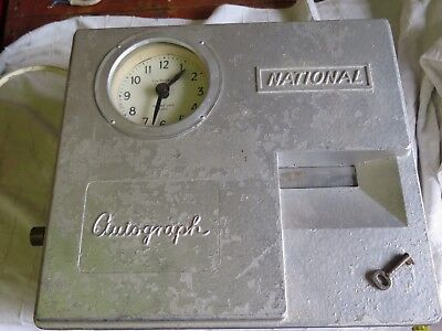 Vintage National Autograph Clocking In Machine/time Recorder - Working & Rare