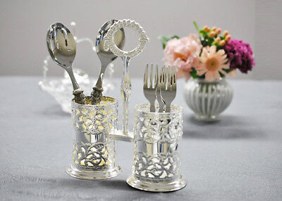 Queen Anne Silver Plated Double Cutlery Holder- Mother Day's Gift