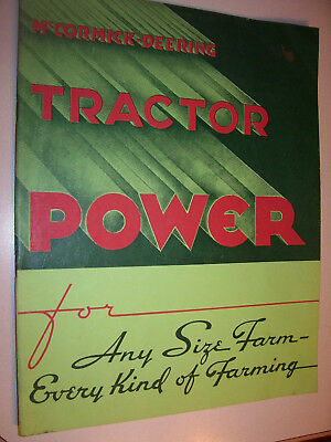 Reprinted - International Ihc Advertising Booklet - Model  W O Td Tractors- 1936