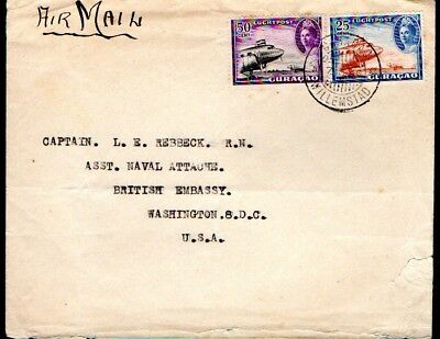Curaçao: 1946 Airmail cover to USA from Willemstad