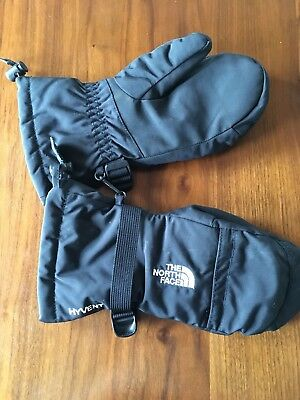 THE NORTH FACE HYVENT Mittens Gloves Black Youth Kids Boys Girls Large NWOT