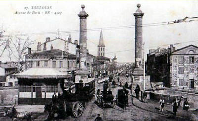 31 Cpa Animee 1916- Toulouse -Avenue De Paris