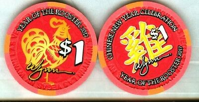 WYNN CASINO (LAS VEGAS) YEAR OF THE ROOSTER $1 CHIP (NEW) 2017.xls