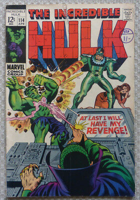 The Incredible Hulk #114, A Marvel Silver Age, 1969.